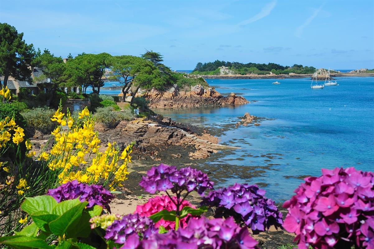 Ile de br hat l 39 le aux fleurs tourisme tr beurden - Office du tourisme perros guirec bretagne ...